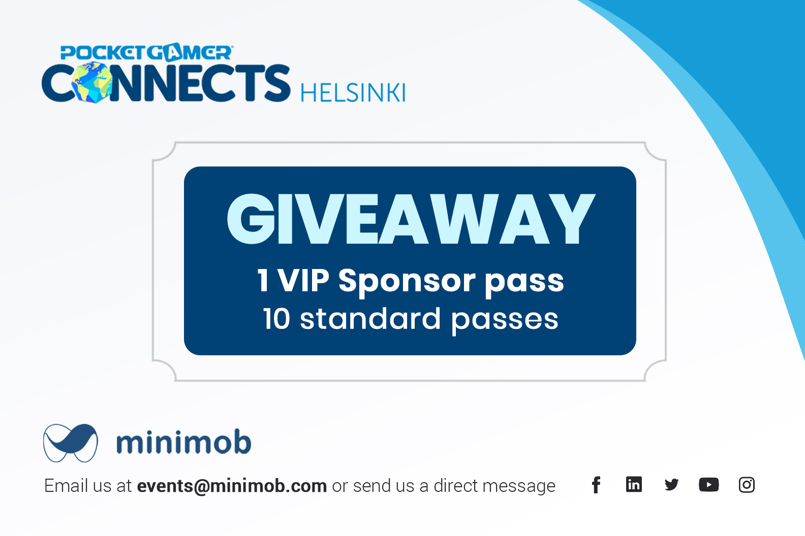 Minimob LinkedIn GIVEAWAY @ POCKET GAMER Connects Helsinki, Finland