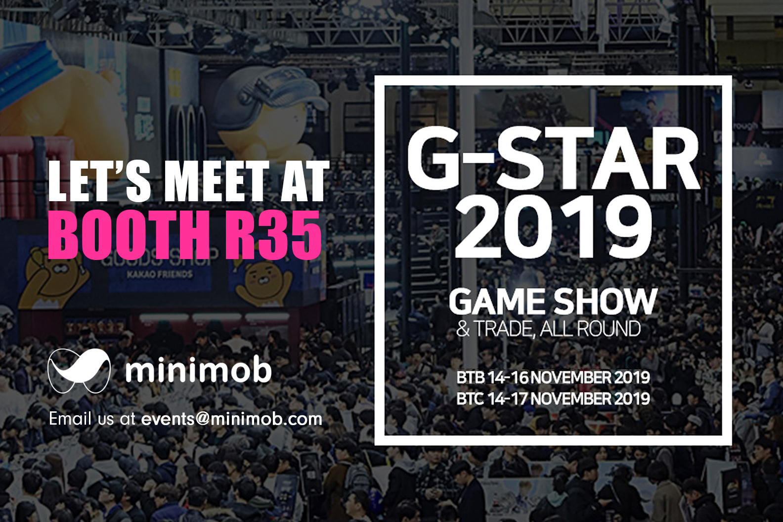 Minimob exhibits @ G-Star Korea, Bussan
